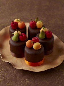 chocolate fruit mini cakes