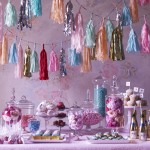 Romantic candy and dessert table