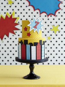 Super hero kid's birthday cake