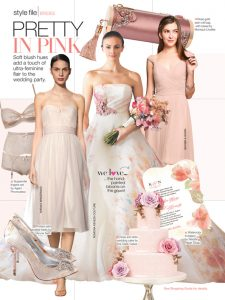Rose wedding cake in bridal guide