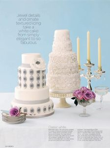 Brides cake feature