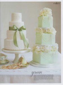 Broderie Anglaise cake in Brides magazine
