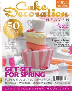 Wonky cake in Cake Decoration Heaven magazine
