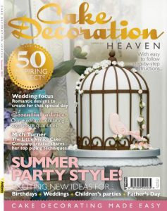Birdcage cake in Cake Decoration magazine