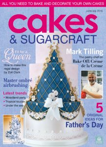 Princess celebration cake in Squire's Kitchen magazine