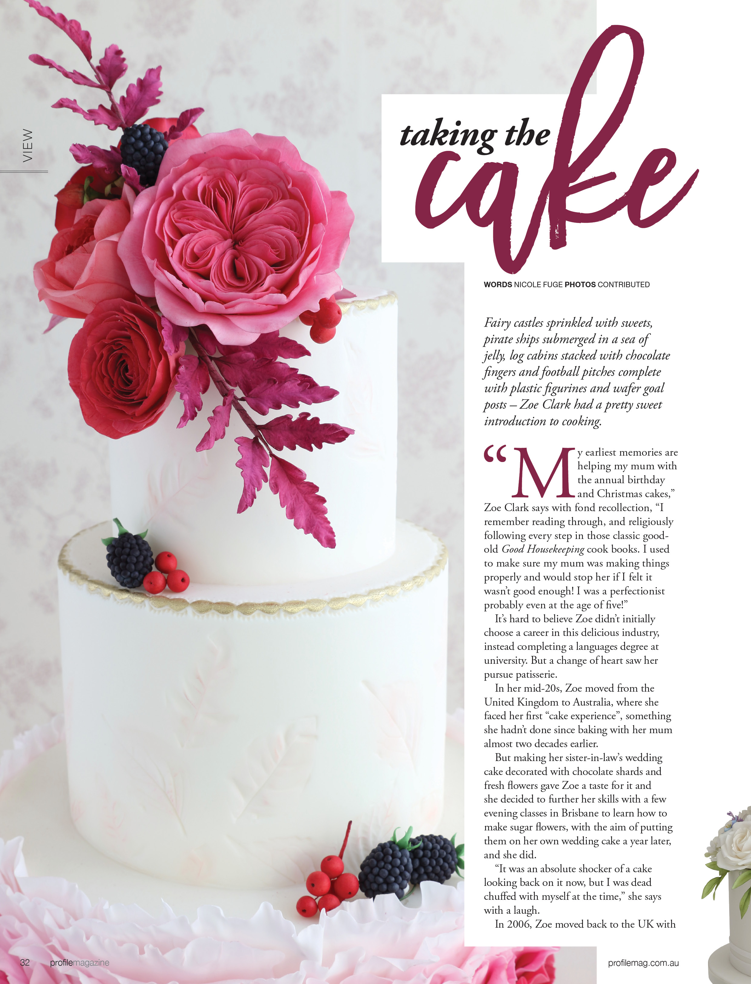 Zoe Clark Cakes Press, Cake Commissions and Features