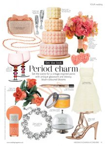 Sunset macarons cake in Wedding Flowers magazine