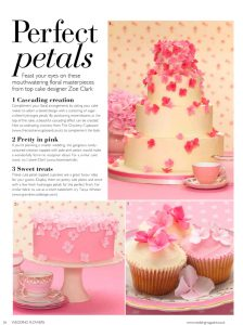 Hydrangea cake in Wedding magazine