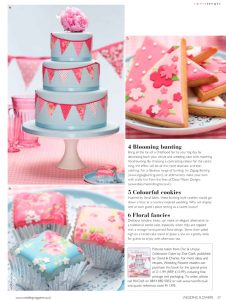 Bunting wedding cake in Wedding magazine