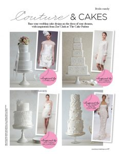 You and Your Wedding fashion wedding cakes feature