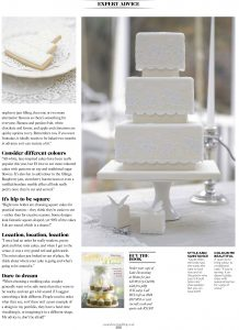 Lace Wedding cake in Cake Decorating book