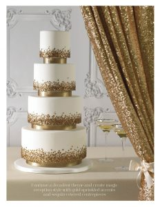 Gold Sequin Cake You and your Wedding
