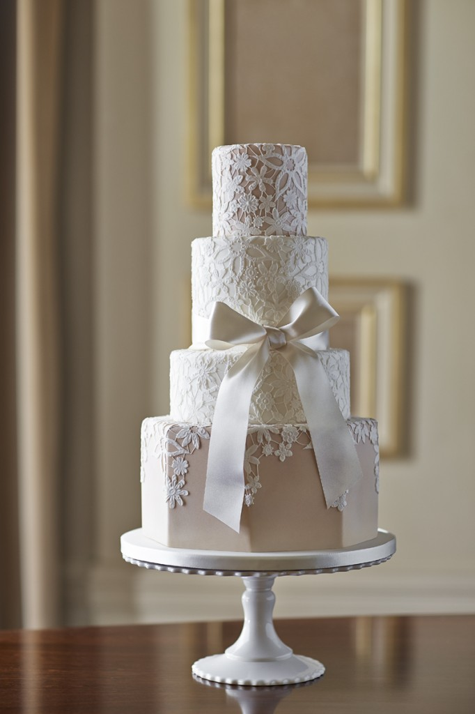 Guipure lace cake