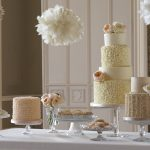 Sweet table with and ruffled theme