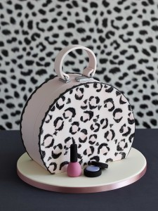 Vanity case birthday cake