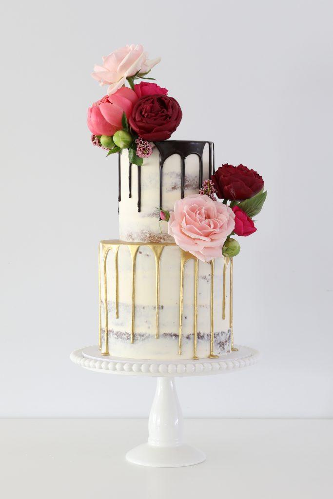 Buttercream Wedding Cakes  Naked Cakes  Macaron Towers-2751