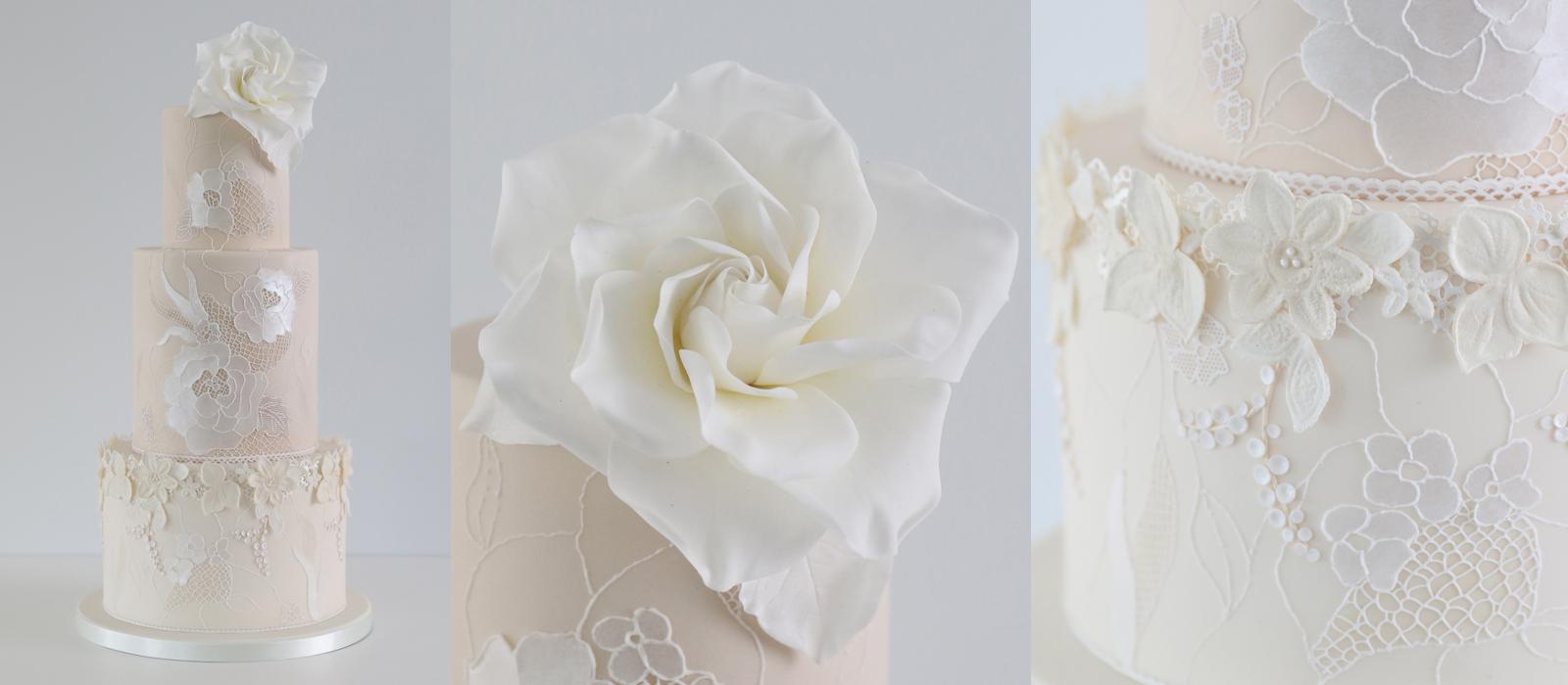 Gardenia Lace Wedding Cake Class
