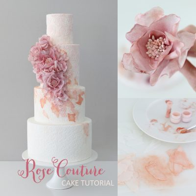 Couture Rose Wedding Cake Tutorial