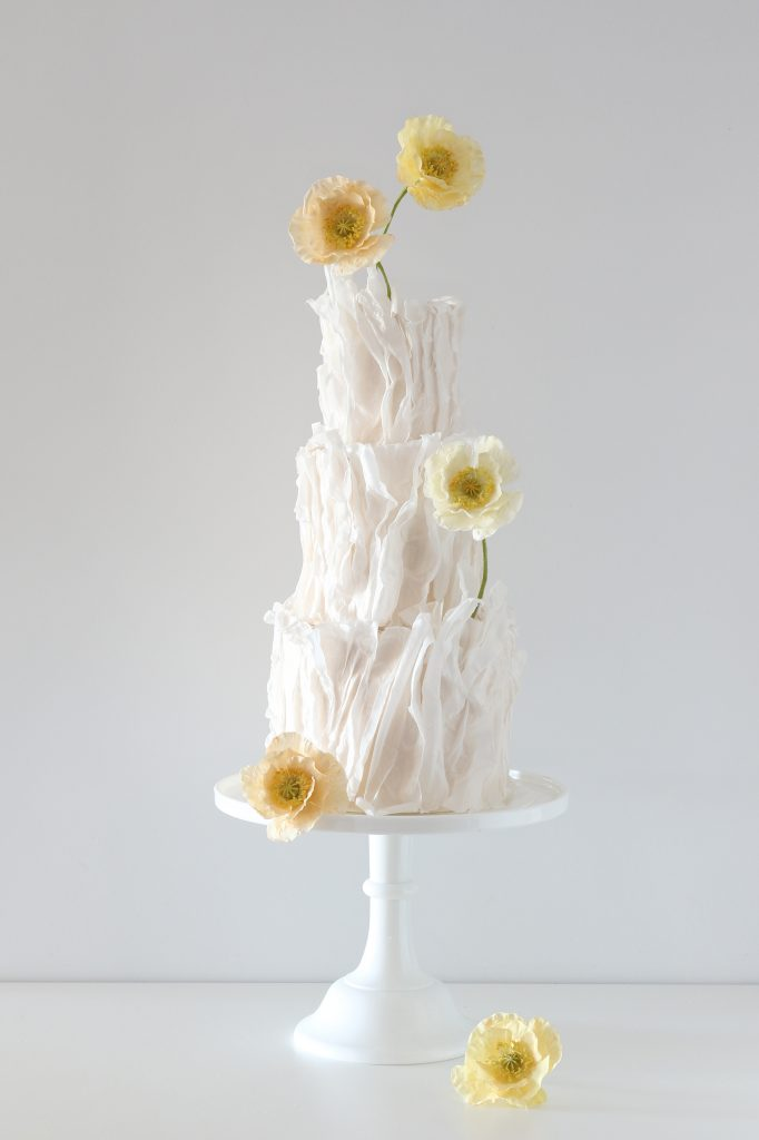 Ethereal Poppies Wedding Cakes Sunshine Coast