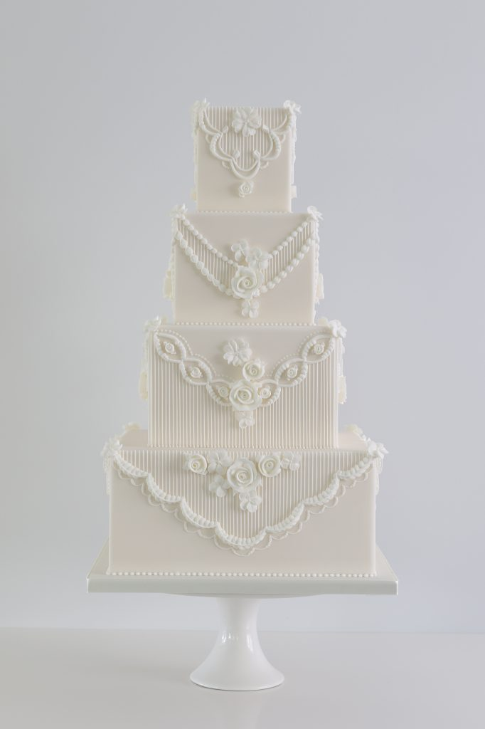Royal iced rose Wedding Cake