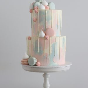 Watercolour buttercream cake