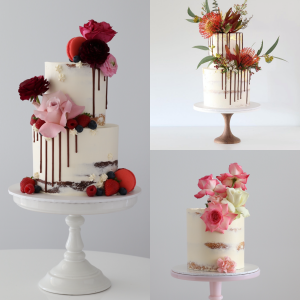 Order semi-naked buttercream cake